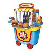 Brinquedo Tendinha Fast Food Xalingo 33 Peças Azul E Amarelo