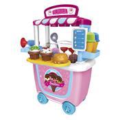 Brinquedo Tendinha Sorveteria Xalingo 1097.6 31 Peças Rosa E Azul