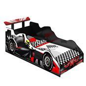 Cama Solteiro JA Móveis Carro Fórmula 1 MDF Preta