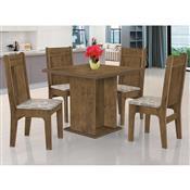 Mesa De Jantar Quadrada JA Móveis Jade Jequitibá Com 4 Cadeiras