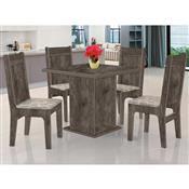 Mesa De Jantar Quadrada JA Móveis Jade Itauba Com 4 Cadeiras