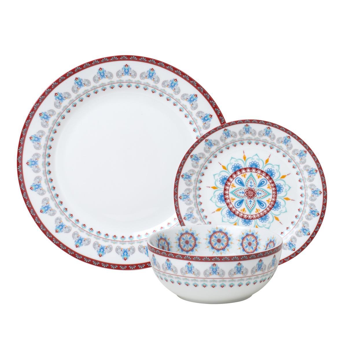 Aparelho De Jantar Wolff Mandala 18 Peças Porcelana Branco