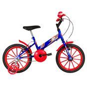 Bicicleta Infantil Ultra Bikes Aro 16 Azul E Vermelha Com Rodinhas