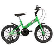 Bicicleta Infantil Ultra Bikes Aro 16 Verde Kw E Preta Com Rodinhas