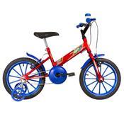 Bicicleta Infantil Ultra Bikes Aro 16 Vermelha E Azul Com Rodinhas