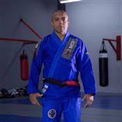 Kimono Para Jiu Jitsu MDV Trançado Pesado Azul A5