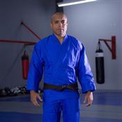 Kimono Para Judô MDV Algodão Azul A4 Com Faixa