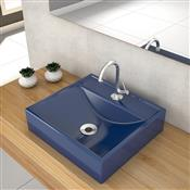 Cuba Apoio Banheiro Trevalla Q39w Com Válvula 7/8 Pol Azul Escura