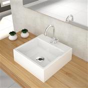 Kit Cuba Para Banheiro Trevalla Q355W Com Torneira Branco