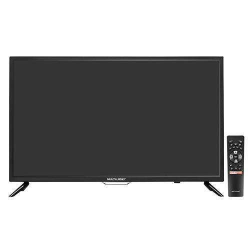 dbb42eb96 TV Led HD Multilaser TL006 32 Pol HDMI RCA USB Smart E Wifi Preta na ...