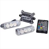 Kit Central Strobo AJK Sound RGB Com 2 Faróis E Controle Remoto