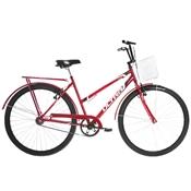 Bicicleta Ultra Bikes Poti Wave Aro 26 Rígida 1 Marcha - Vermelho