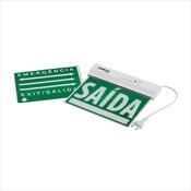 Placa De Sinalização IntelBras PSA 225 Dupla Face Branca E Verde