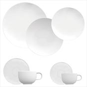 Aparelho De Jantar Germer Convexa 42 Peças Porcelana Branco