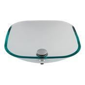 Cuba De Apoio Quadrada Astra CP/QC31 31Cm Vidro Transparente