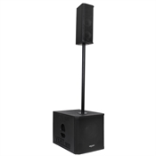 Caixa Acústica Line Array Donner LL Áudio VERT1200 300W Preta