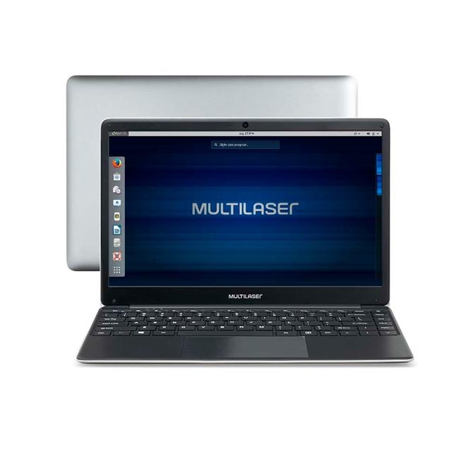 Notebook Legacy Intel Dual Core Tela De 14.1 Pol. HD Linux 4GB + 500GB Cinza Multilaser - PC231 PC231