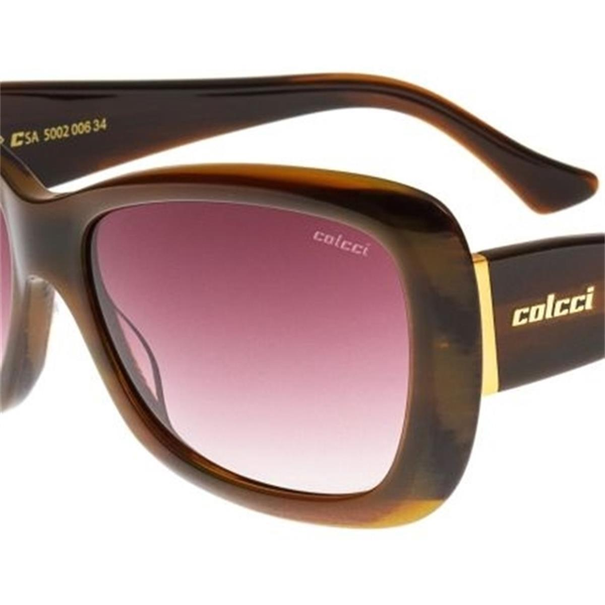 Óculos de Sol Marrom Marmorizado Feminino 5002 Colcci 34e1b0ea8c