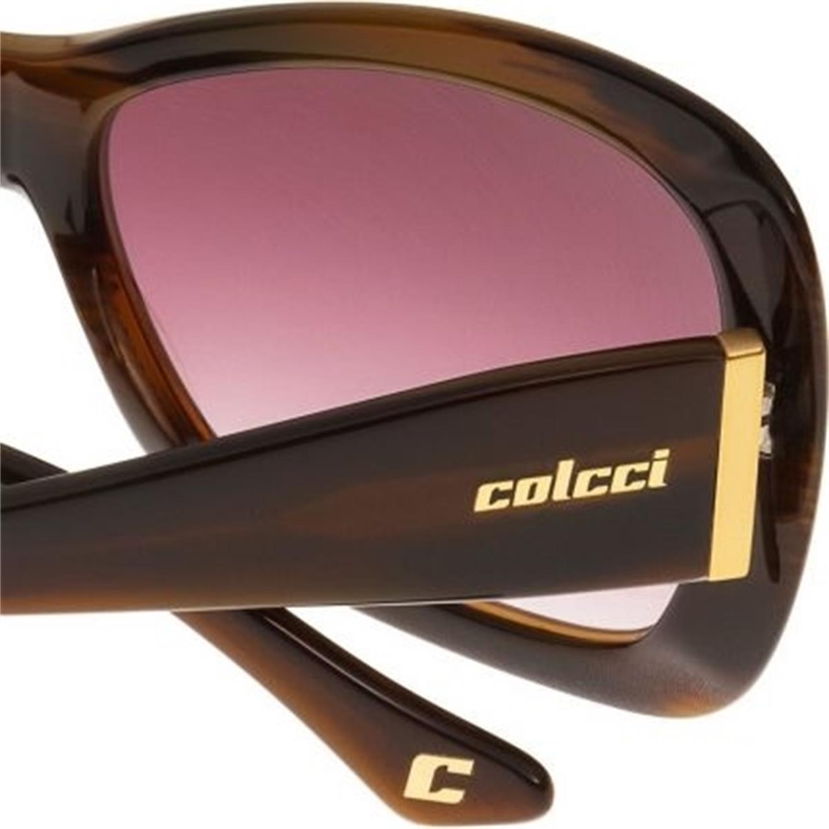 36255ef13 Óculos de Sol Marrom Marmorizado Feminino 5002 Colcci