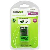 Bateria Recarregável Flex FX9V25B1 9V 250mah 6f22 Nimh