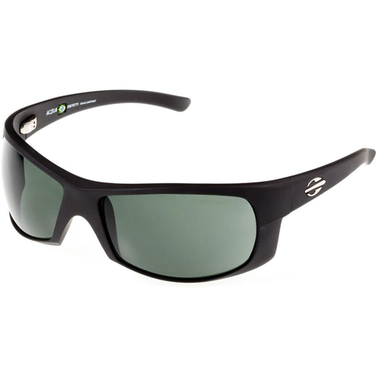 52d723010fced Óculos de Sol Preto Fosco Lente Verde ACQUA Mormaii