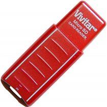 Leitor De Cartão Micro Sd Usb Vermelho Vivrw1000 Vivitar