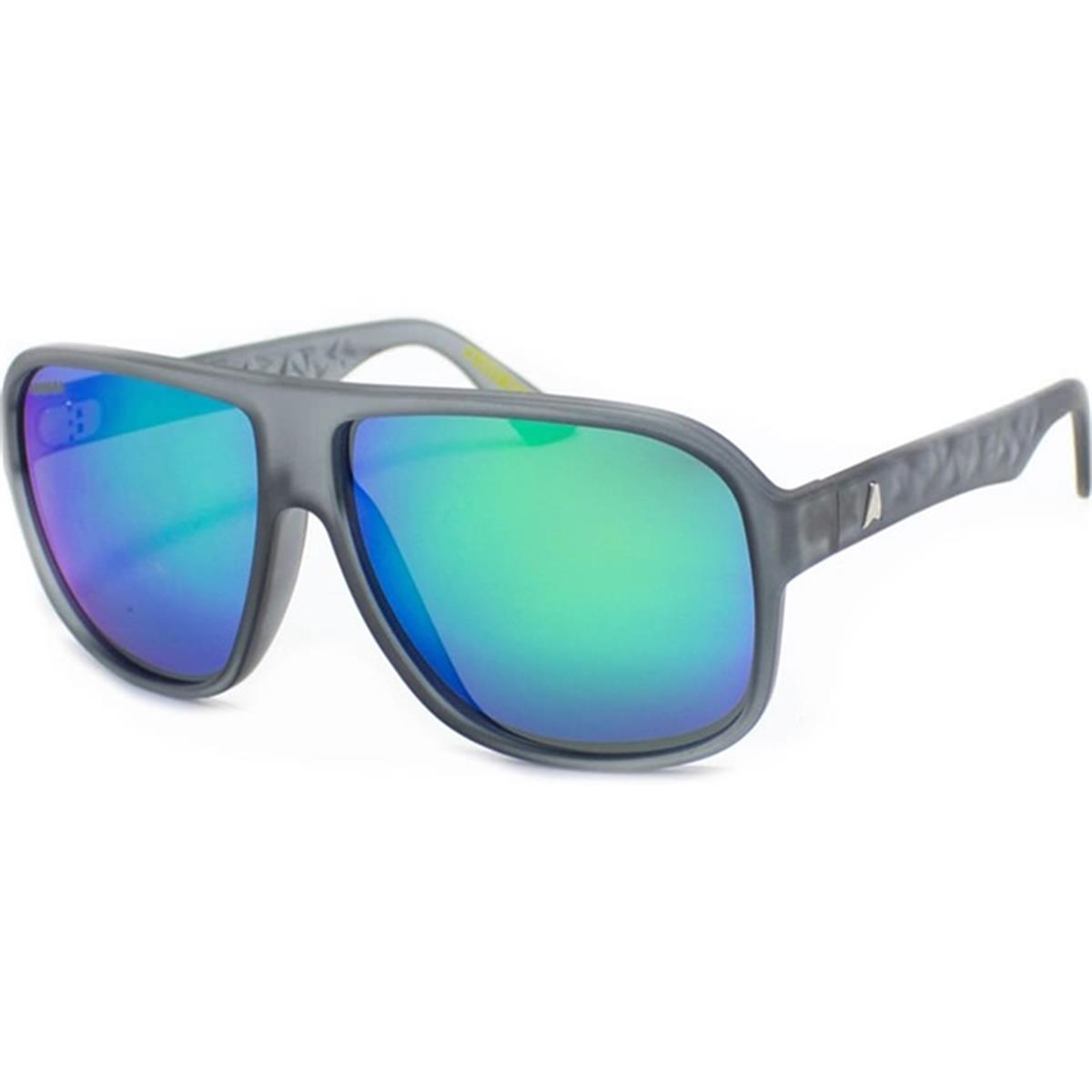 7e6022b3d Óculos de Sol Grafite Fosco Lente Verde Espelhada Flash CALIXTO Absurda