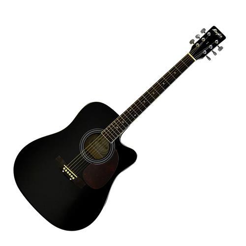 Violão Elétrico Folk Preto Cordas Em Aço Memphis  Md18 Tagima
