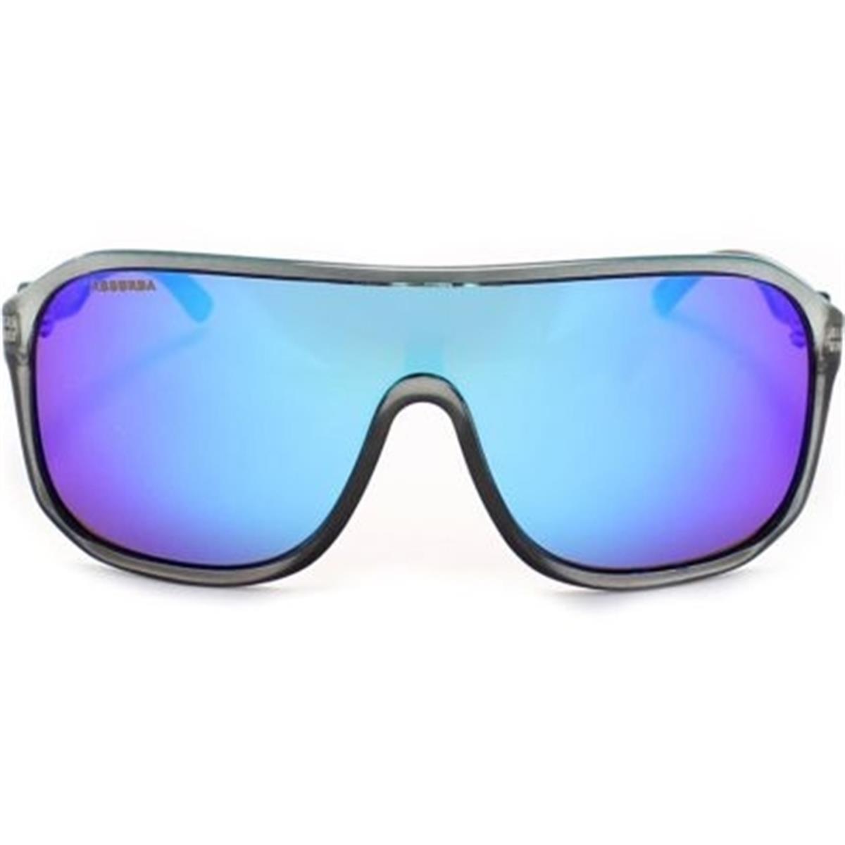 Óculos de Sol Prata Escuro e Lente Azul GUANABARA Absurda 2875013885