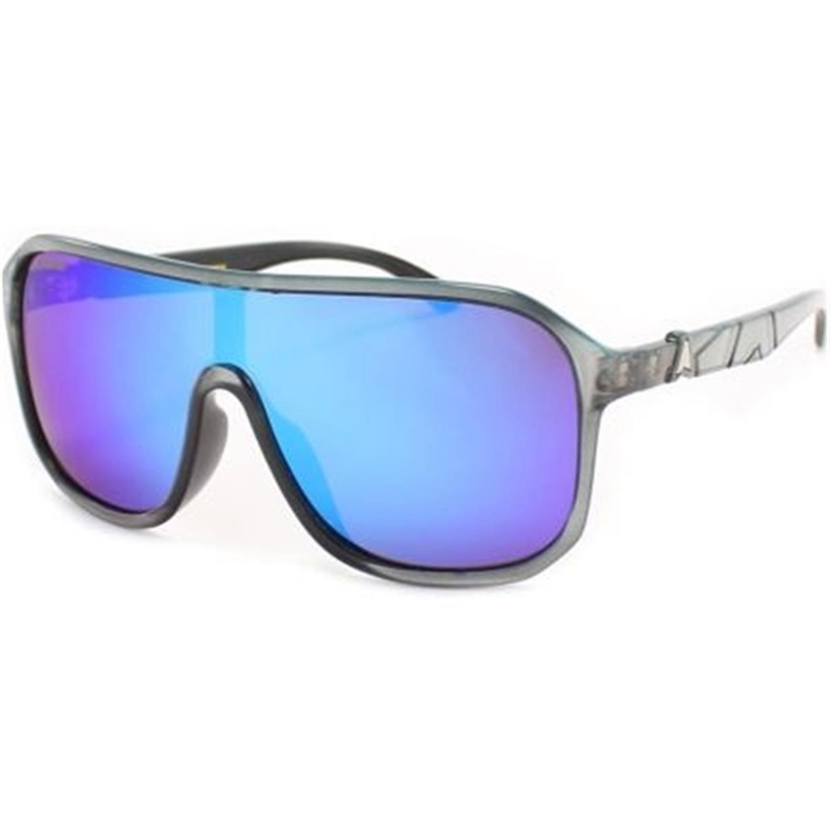 b5bb59b4404be Óculos de Sol Prata Escuro e Lente Azul GUANABARA Absurda