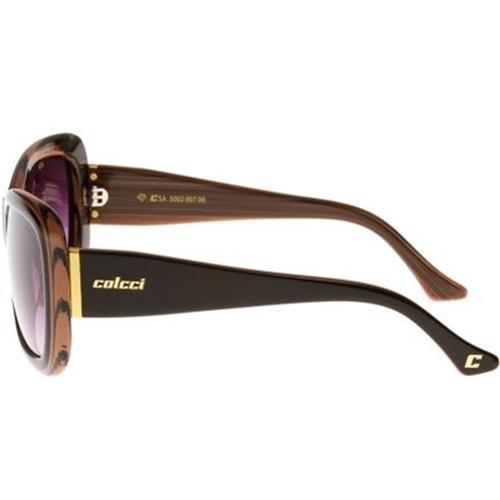 ab4fcd310 Óculos de Sol Rosa Marmorizado Feminino 5002 Colcci