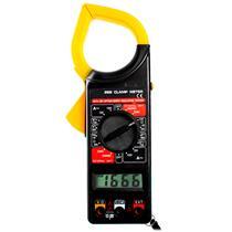 Alicate Amperímetro E Multímetro Digital Com Case Brasfort