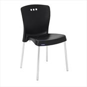 Cadeira Mona Pernas Polidas Preta 92052009 Tramontina