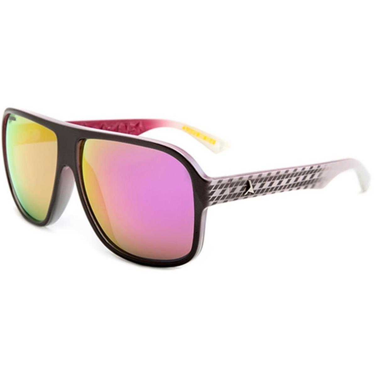 Óculos de Sol Prata e Branco com Lente Rosa CALIXTO Absurda c8acdae17a