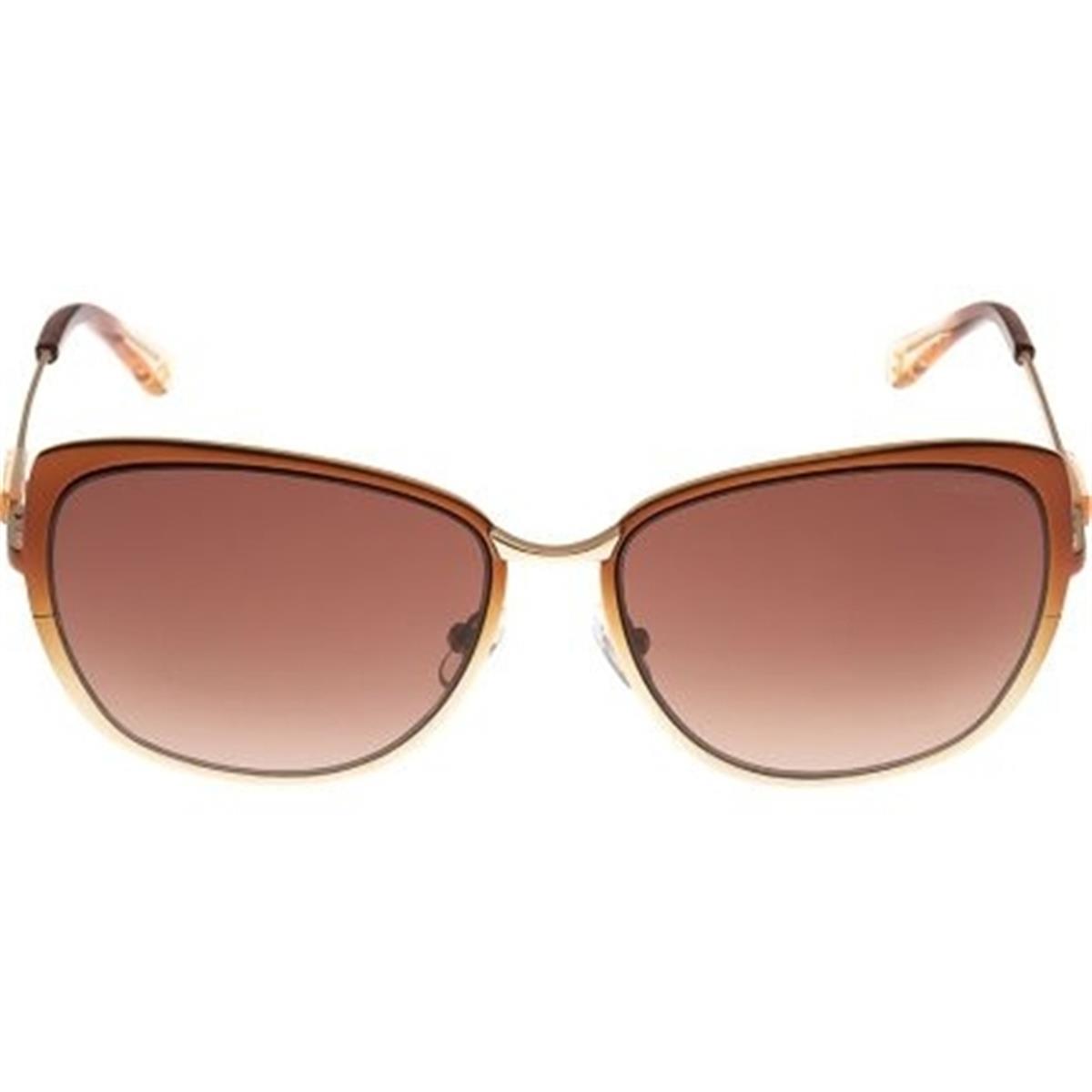 98ed882d2cb68 Óculos de Sol Marrom e Lente Marrom Degradê 5008 Colcci