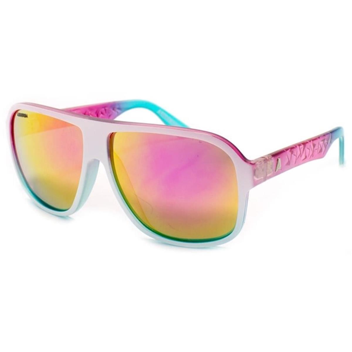 Óculos de Sol Branco Rosa Lente Espelhada CALIXTO Absurda 10bcf1f4f6