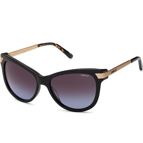 a873b210a623c Óculos de Sol Preto e Dourado Feminino 5014 Colcci