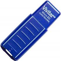 Leitor De Cartão Micro Sd Usb Azul Vivrw1000 Vivitar