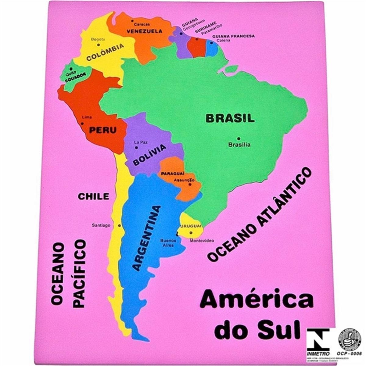 mapa da america do sul Mapa Da América Do Sul Colorido Educativo 71 Carlu na Estrela10 mapa da america do sul