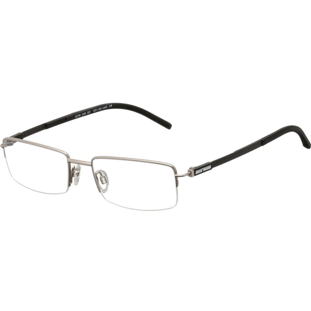 30b00b134314f Armação para Óculos Prata e Preto Titanium MO1678 Mormaii
