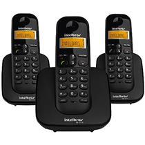 Telefone Sem Fio Intelbras Ts3113 + 2 Ramais C/ Identificador