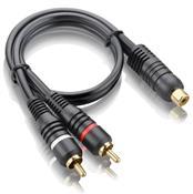 Cabo Y Áudio E Vídeo Automotivo Plugs 2M E 1F Au505 Multilaser