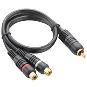 Cabo Y Áudio E Vídeo Automotivo Plugs 1M E 2F Au504 Multilaser