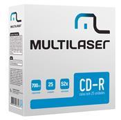 Mídia Cd-R Gravável 25 Unidades Cd029 Multilaser