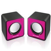 Caixas De Som 2.0 Portátil 3W Rms Rosa Sp198 Multilaser