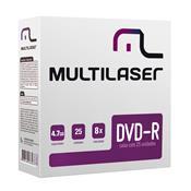 Mídia Virgem Dvd-R Envelope Caixa 4.7Gb 25 Unidades Dv042 Multilaser