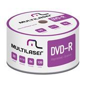 Midia Virgem Dvd-R Shrink Imprimível 120Min 4.7Gb 50 Peças Dv052 Multilaser