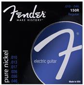 Encordoamento Para Guitarra Aço 0.10 Niquelada 150r Fender