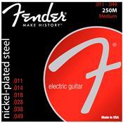 Encordoamento Para Guitarra Aço 0.11 250m Niquelado Fender