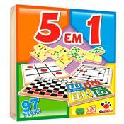 Jogo 5 Em 1 Caixa De Madeira 97 Peças 4 Anos 1175 Ciabrink